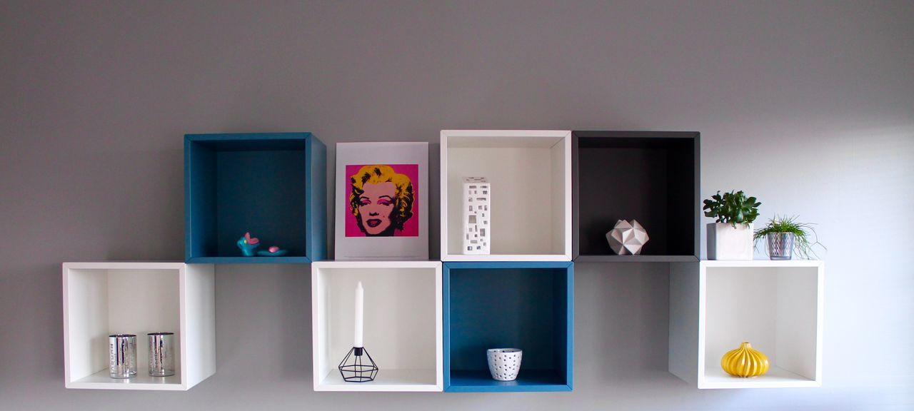 Our living room Architecture Art Canon Canon Eos 1100 D Clear Day Domestic Room Home Interior Home Showcase Interior House IKEA Indoors  Interior Design Marilyn Monroe Modern No People Painted Image Reflection Scandinavia Scandinavian Scandinavian Style Shelves Wall EyeEmNewHere