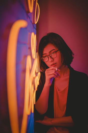 think about you Young Women Eyeglasses  Concentration Thoughtful Medium-length Hair Thinking Pretty Friend Caucasian Film Reel Head And Shoulders The Portraitist - 2019 EyeEm Awards