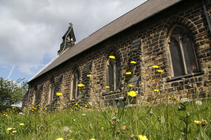 Architecture Building Exterior Built Structure Chrch Church Church Architecture Churches Cloud - Sky Day Grass Gravestone Graveyard History House Low Angle View Nature No People Outdoors Popies Sky