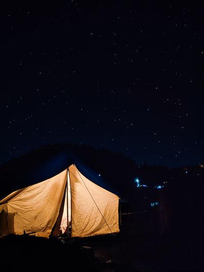Tent pitched at kedarnath india