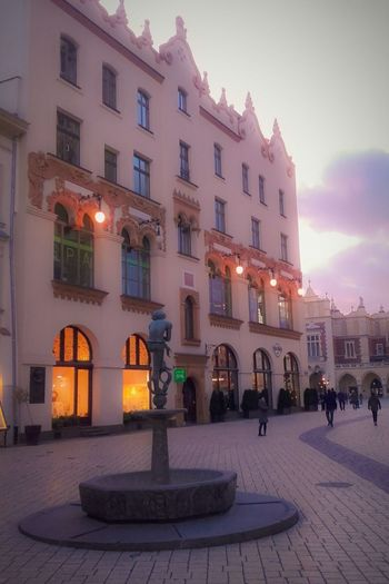 Architecture Building Exterior Illuminated City Window Built Structure Arch Travel Destinations Outdoors In Front Of Famous Place Krakow
