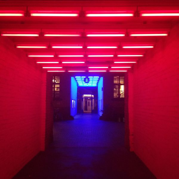Alleyway Architecture Blue Corridor Design Futuristic In A Row Neons Pink PINKY Repetition The Way Forward Walking Around All The Neon Lights