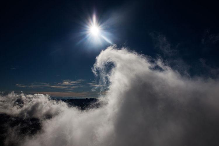 Dragoncloud Cloud EyeEmNewHere Peña Ubiña Shape Sunlight Dragon Shape Nature No People Outdoors Scenics Sky EyeEm Ready   Shades Of Winter