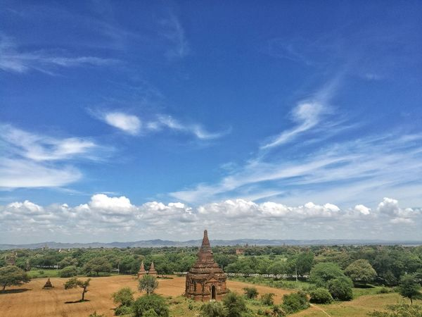 Bagan, The Origin Of Myanmar Tree Green Nature Traveling Travel Southeastasia Welcome Myanmar Pagoda Ancient Town Ancient Temple Ancient Building Travel Photography Mobilephotography Bagan Bagan, Myanmar Sky Cloud