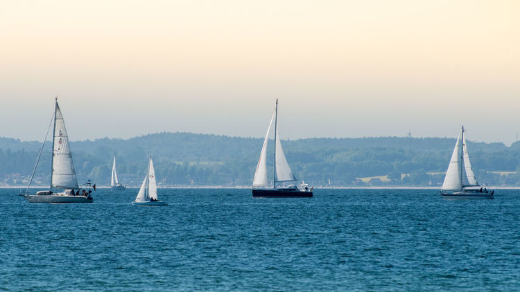 Nautical Vessel Sailboat Sailing Sea Ship Sailing Ship Passenger Craft Yacht Water Transportation Direction Mast Tall Ship No People Outdoors Day Crew Yachting Sky