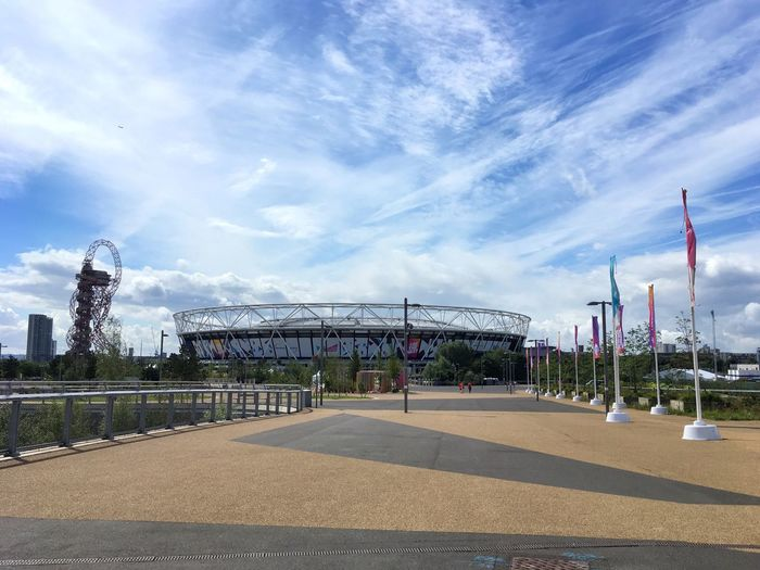 Olympian - The Olympic Stadium in Stratford EyeEm LOST IN London Great Sky And Clouds today.