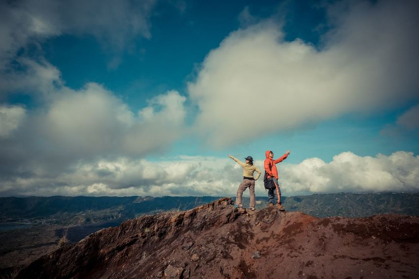 Hiker on Batur Volcano, Indonesia Bali Batur Freedom Hiking Nature Tourist Beauty In Nature Cloud - Sky Day Friendship Full Length Group Of People Hiker Landsacpe Leisure Activity Lifestyles Men Nature Outdoors People Real People Scenics Sky Standing Togetherness Tourism Two People Volcano
