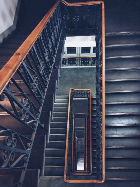Spiral Staircase Berlin EyeEm Selects Staircase Steps Steps And Staircases Railing Stairs High Angle View Spiral Spiral Staircase No People Spiral Stairs Built Structure Architecture Hand Rail Indoors