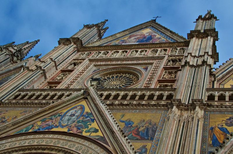 Low Angle View Of Orvieto Cathedral