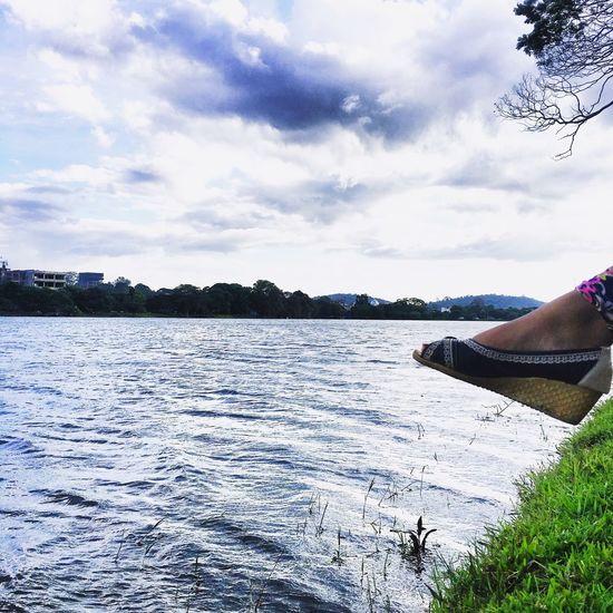 Nature Lake Feet Sky