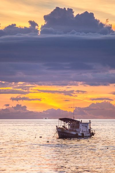 sunset Sun Water Sea Sunset No People Scenics - Nature Ship Orange Color Nature Beauty In Nature Transportation Sky Nautical Vessel Outdoors Cloud - Sky Mode Of Transportation Tranquility Travel Seascape Horizon Passenger Craft