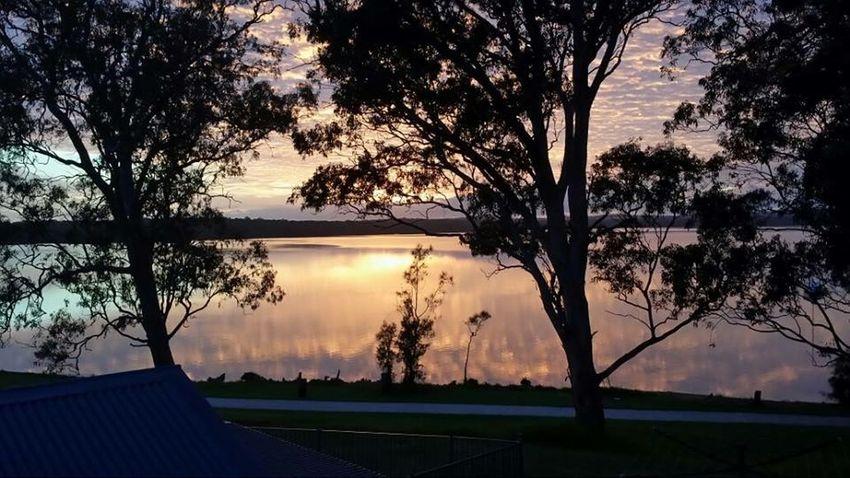 Morning Australia Sunrise Skyporn Lake Macquarie Hot Fishing