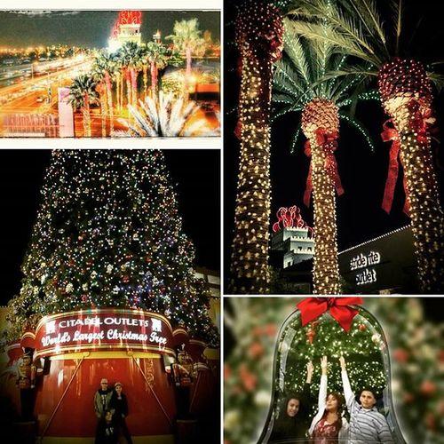 X-mas lights 2015xmasshopping Citadeloutlets Theworldslargestchristmasbow Theworldslargestchristmastree Itsstartingtolookalotlikechristmas
