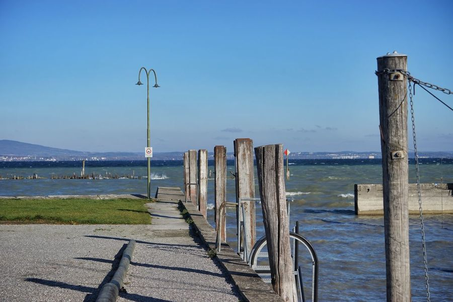 Bodensee Bodenseeregion Bootssteg Day Kesswil Lake Constance No People Outdoors Scenics Sky Thurgau Water Wooden Post
