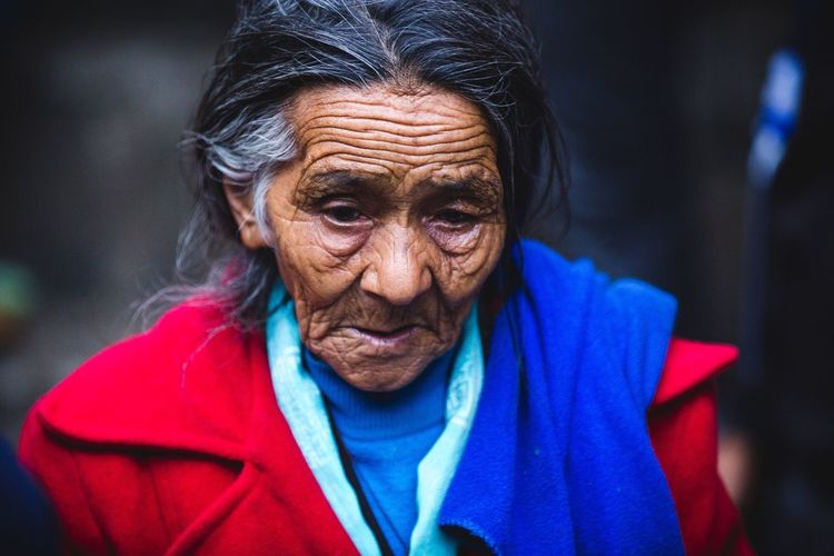 The Portraitist - 2016 EyeEm Awards saw this old lady during a lama-reincarnation-party in a mountain village of the Khumbu Valley ... We were so lucky to have the right timing to witness this huge celebration which happens only once a year. Her face makes me wonder how her life in these tough mountains was like and what she had to endure. Nepal Fascinating Woman Old Lady Portrait Travel Face Age Beautiful Nature Experience