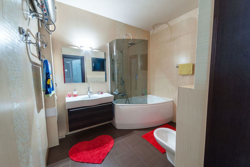 Bathroom Indoors  Domestic Room Home Interior Domestic Bathroom Home Mirror Architecture Flooring No People Entrance Building Door Illuminated Lighting Equipment Furniture Home Showcase Interior Reflection Sink Wealth Luxury Modern Tiled Floor
