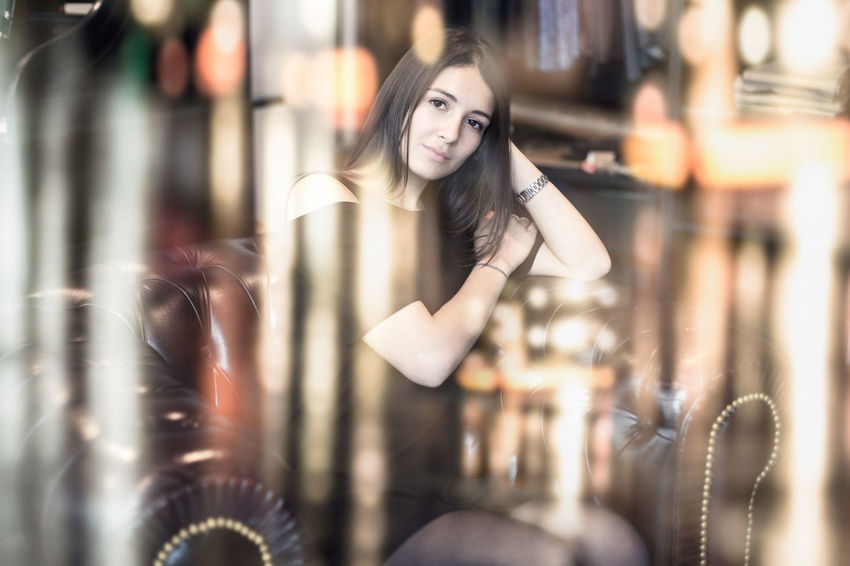 Trying something new Beautiful Girl Beautiful Woman Double Exposure Night Lights Portrait Of A Woman Portrait Photography Pretty Girl Pretty Girls Pretty Woman Reflection The Portraitist - 2017 EyeEm Awards