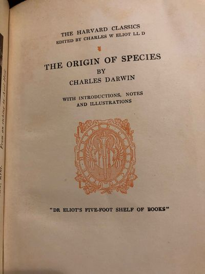 Harvard Classic written by Charles Darwin Old Classic Amazing View Reading Education Learning Scientist Biology Sciences Havard Text Communication No People Paper Close-up Indoors  Day