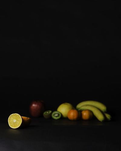 Still Life Natura Morta Fruits Food Italian Food Orange Banana Kiwi Soft Light Apple Fruit Black Background Healthy Eating Studio Shot Apple - Fruit Food And Drink No People Food Freshness Food Stories