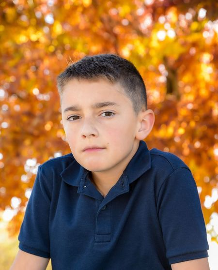 Boys Autumn Childhood Leaf Tree Focus On Foreground One Person Child One Boy Only Outdoors Elementary Age Park - Man Made Space Looking At Camera Nature Portrait Day Real People Males  Children Only Close-up Colorado Photography The Portraitist - 2018 EyeEm Awards