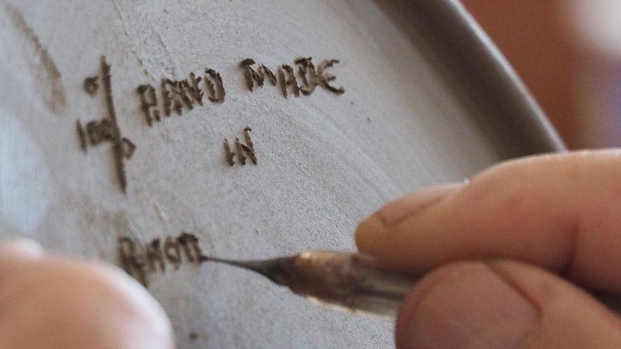 Ceramics Factory Rhodes Greece Bonis Ceramics Ceramic Art Craft Ceramic Plate Skills  Hand Made Design Human Hand One Person Close-up