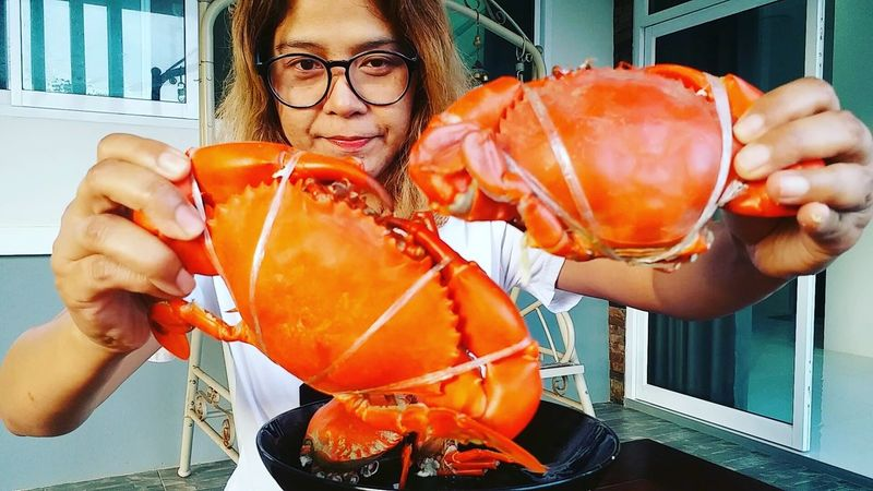 Animal Crab - Seafood Crab Food Food And Drink Only Women Close-up Food Styling