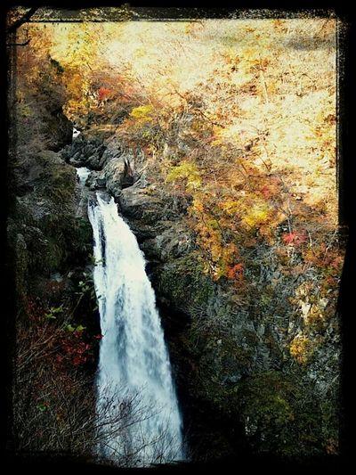 Falls in Japan. Nature