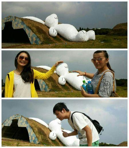 玉兔比黃色小鴨更吸引我♥♥ Rabbit ❤️ 霍夫曼 海軍基地 桃園地景藝術節