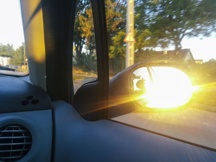 Lens Flare Mode Of Transport On The Way Rear View Rear View Mirror Roadtrip Roadtrippin' Sun Sunbeam Sunlight Sunny Travel Photography Traveling The Drive