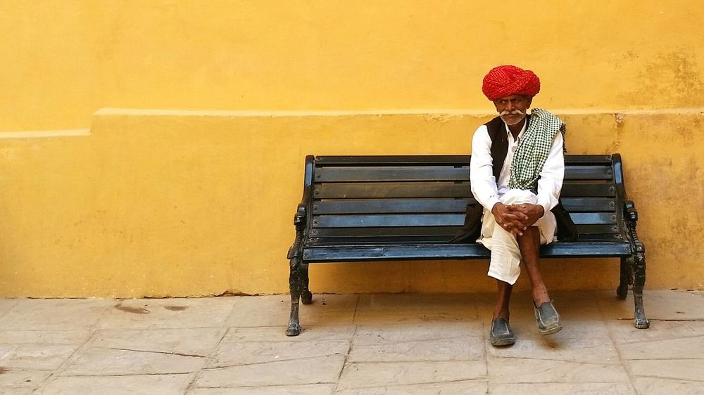 Incredible India Rajasthan Moustaches Jaipur Man People Photography Eye4photography  People Around You Peopleofindia Headwear Yellow Peoplearepeople PeopleAroundTheWorld Benches Bench Seat People And Places
