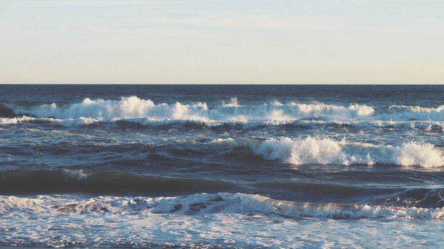 Sea waves Water Wave Sea Beach Sunset Sky Horizon Over Water Landscape Tide Seascape Ocean Shore Coast Coastline