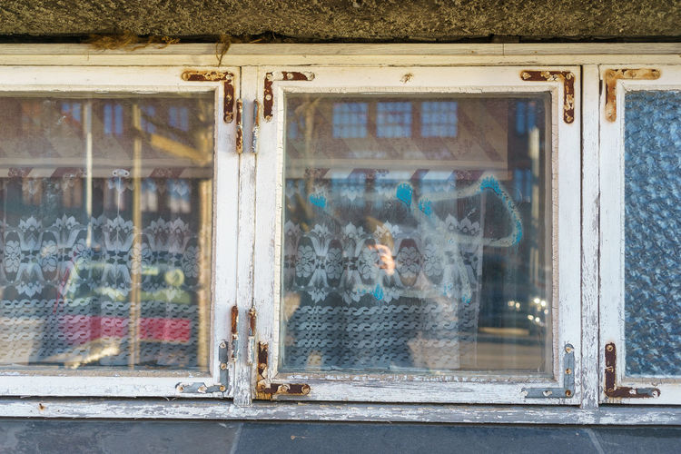 Window of abandoned building