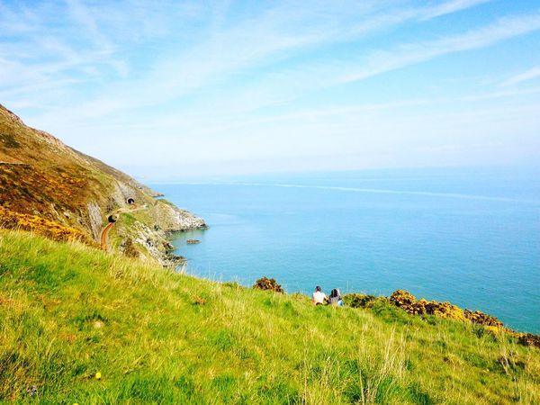 Beautiful Place! Couple Ireland🍀 MyView ! Perfectplace Amazing Landscape Mountain View Blue Sky Sea Seascape Sea View