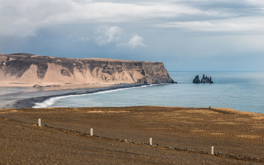 Dyrhólaey Iceland Beach Beauty In Nature Cloud - Sky Day Dramatic Landscape Horizon Horizon Over Water Land Nature No People Non-urban Scene Outdoors Reynisdrangar Rock Formation Rocks Scenics - Nature Sea Sky Tranquil Scene Tranquility Water