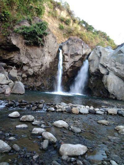 Waterfall Rock - Object Nature River Beauty In Nature DELTA API Lombok Island Rumahalir NTB