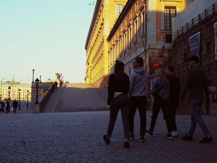 Gamla Stan Kings Palace Kungen Stockholm Sverige Architecture Group Of People Building Exterior Built Structure City Real People Sky City Life