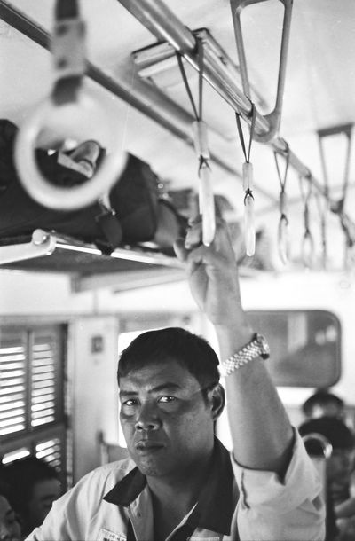 35mm Analogue Photography Blackandwhite Bling Bling One Man Only Portrait Streetphotography Train Watch