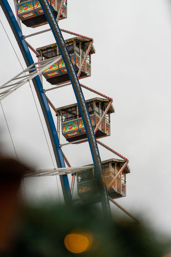 High angle view of ferris wheel against sky