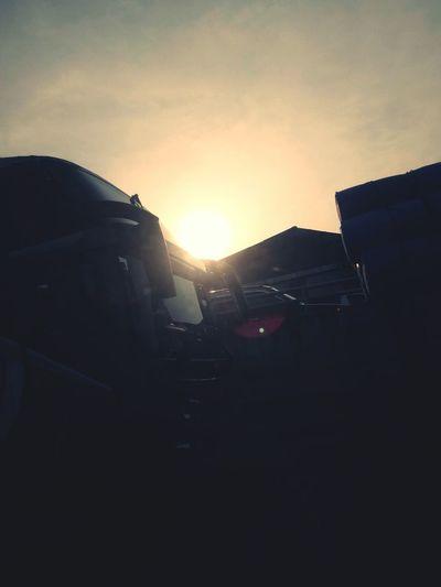 traffic jam, medan amplas. #anakmedan Anakmedan Sunset Sun Jalantol Silhouette Sunlight City Sky Architecture Building Exterior Built Structure First Eyeem Photo