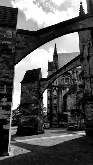 Buttresses of Lincoln Cathedral... Architecture Building Exterior Cathedral Buttresses Lincoln Cathedral Black And White Photography Black And White Friday