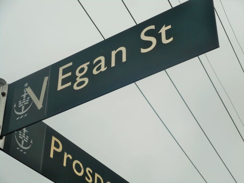 "'There's this store where the creatures meet...' Of all the towns to have an ""Egan Street""! Newtown is the counter-culture capital of Sydney. My favourite place in Australia. Adapt Close-up Communication Day Egan Street Guidance Improve Love Modify Newtown Newtown NSW Outdoors Power Line  Road Sign Semiotics Sign Signs Signstalkers Street Sign Street Signage Street Signs Text Vegan Vegan Street Neighborhood Map"