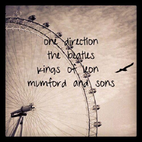 August23 FavoriteBands <3 Onedirection Mumfordandsons thebeatles kingsofleon <3