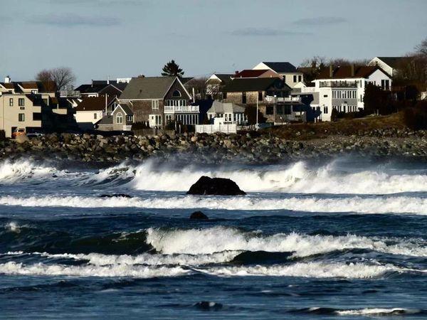 Ocean Waves Seaside Hampton Beach