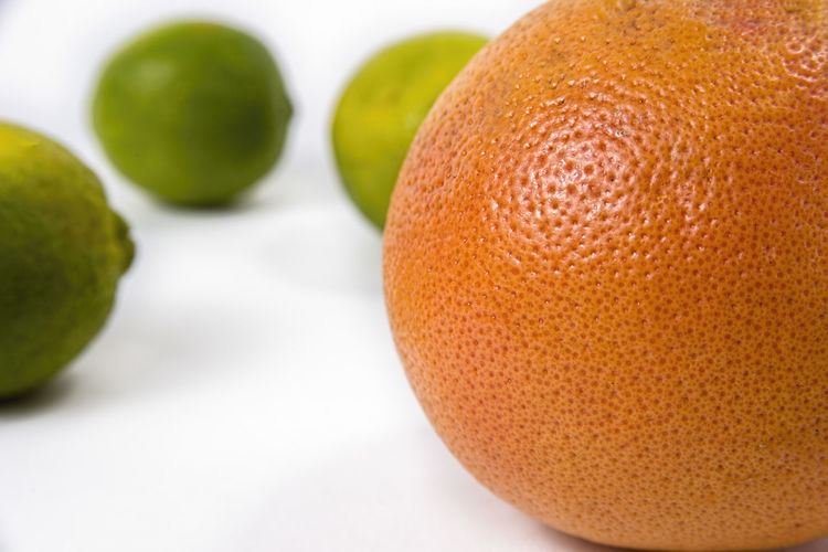 Close-up of orange fruit on table