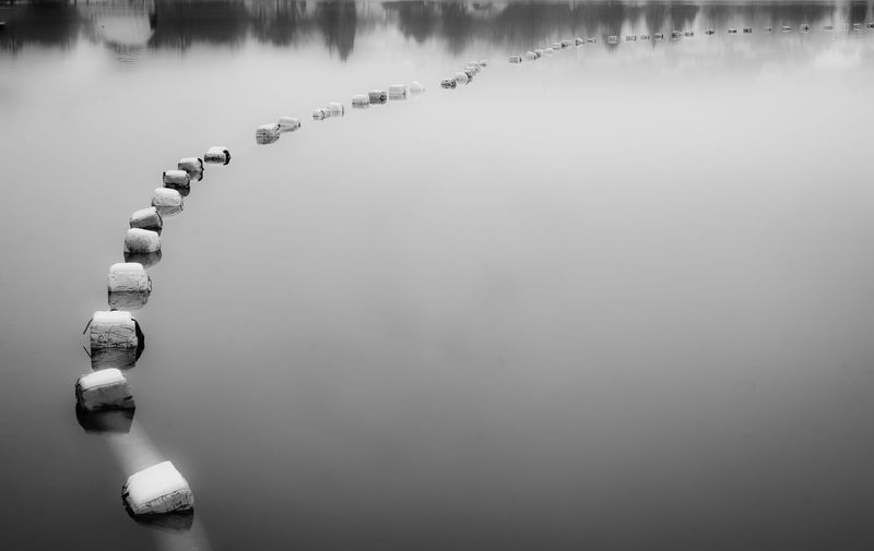 Pearls EyeEm Premium Selection Stubenbergsee, Styria, Austria Looks Good Water Black & White Water In A Row Day Winter Outdoors Lake Waterfront Beauty In Nature Tranquility Nature No People