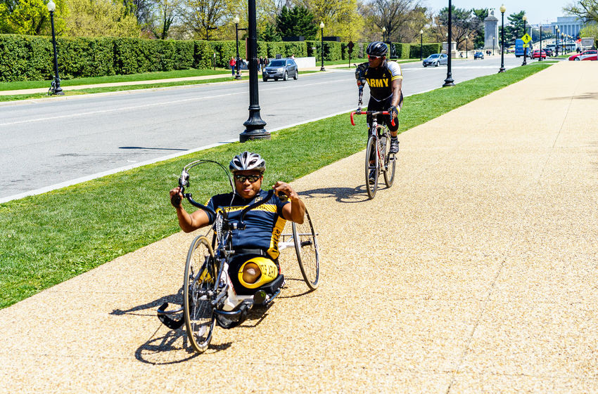 Army Army Strong Bycicles Cycling Disabled My Favorite Photo Inspiring HERO Heroes Lifestyles Up Close Street Photography Showcase April Alternative Fitness Athlete Soldier Showing Imperfection Transportation Support Our Troops L Michael Kali Smith USA Warriors Washington, D. C. Wounded On The Way Human Meets Technology EyeEm X ICP - Telling Stories Differently