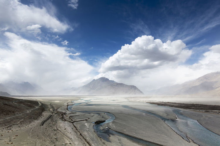ASIA Desert EyeEm Best Shots EyeEm Nature Lover Ladakh Landscape_Collection Mountain View Panoramic River View Buddhist Temple Clouds Clouds And Sky Landscape_photography Mountain Panoramic Landscape Panoramic Photography