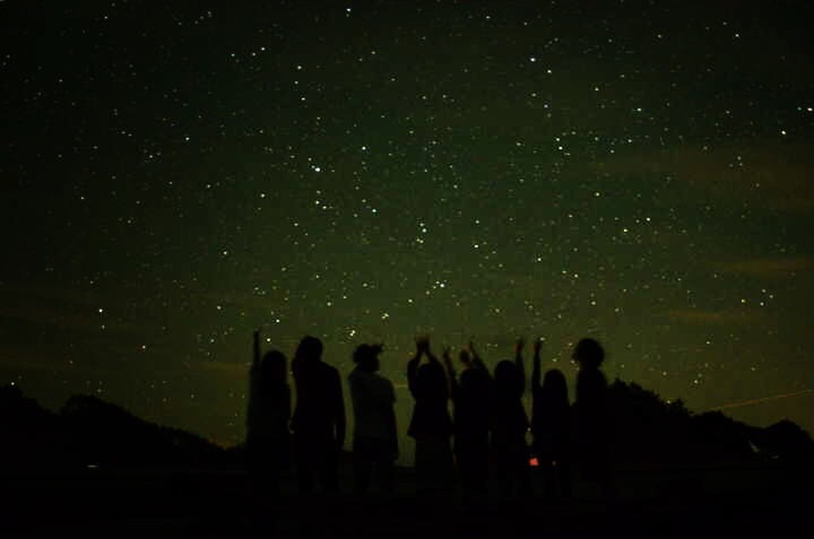 night, silhouette, star - space, star field, dark, sky, scenics, tranquil scene, low angle view, beauty in nature, tranquility, nature, galaxy, exploration, astronomy, illuminated, men, standing, leisure activity