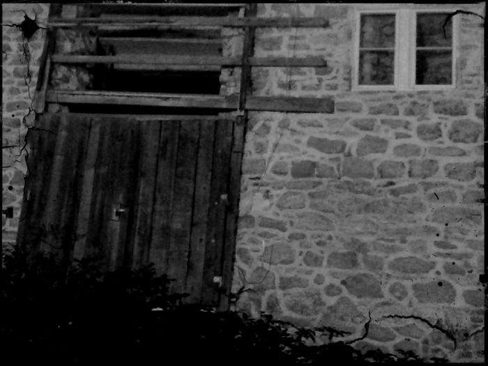 Abandoned Buildings Old Creepy Buildings Broken Door Black & White