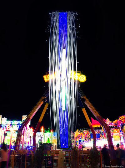 Lightpainting Long Exposure Lunapark Night Shot